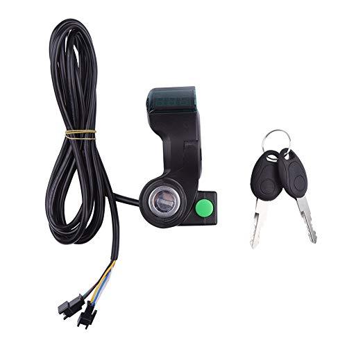 MAGT Acceleratore del Pollice della Bici Elettrica Display A LED Voltage Volt Meter Gauge Display Voltaggio della Batteria Interruttore A Chiave Serratura con Interruttore di Alimentazione