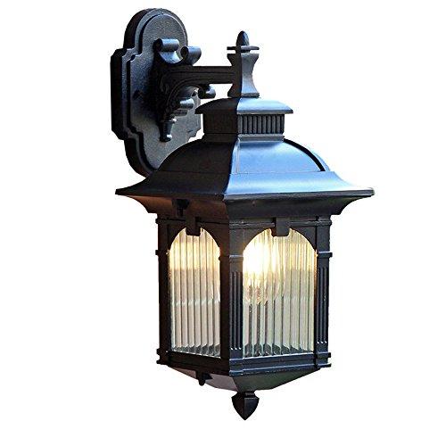 mmynl Éclairage mural extérieur Applique murale étanche Villa de style européen rétro Garden Patio de Marche en plein air lampe lampe couloir balcon éclairage LED 24 cm * H 40 cm * W 18,5 cm