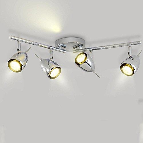 LED TRACK LIGHT CEILING LED Reality Leuchten Spotleuchte Track Licht Decke Kleidung Moderne Kreative COB Swivel Bekleidungsgeschäft Fenster Hintergrund Wand, C (Track-licht Moderne)