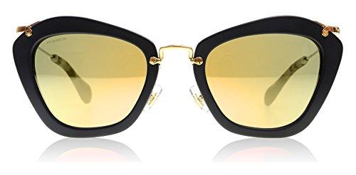 Miu Miu Unisex Noir MU10NS Sonnenbrille, Schwarz (Black 1BO2D2), One size (Herstellergröße: 55)