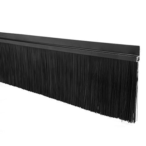 sourcingmap® Türboden Fegen H-Form Basis mit 4 Zoll Schwarz Nylon Pinsel 40-Zoll x 4,8-Zoll - Nylon Pinsel Tür Fegen