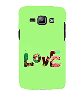 FUSON Love Fabric Text 3D Hard Polycarbonate Designer Back Case Cover for Samsung Galaxy J1 (2015) :: Samsung Galaxy J1 4G (2015) :: Samsung Galaxy J1 4G Duos :: Samsung Galaxy J1 J100F J100Fn J100H J100H/Dd J100H/Ds J100M J100Mu