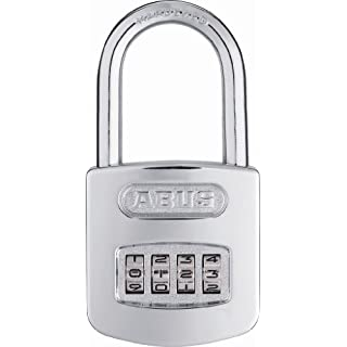 ABUS 160HB/50-50 All Weather Chrome 4-Dial Resettable Combination Padlock w/2' shackle