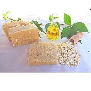 Hafermilch Honig Seife, Peelingseife, Duschseife, vegan, ohne Palmöl, handgemachte Naturseife von kleine Auszeit Manufaktur