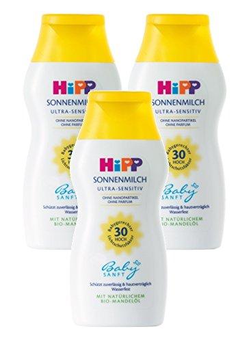 HiPP Babysanft Sonnenmilch, 3er Pack (3 x 200ml)