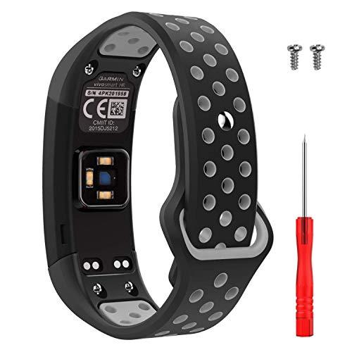 SUPORE Garmin Vivosmart HR Armband, Zubehör Verstellbares Weiches Silikon Ersatzarmband für Armbanduhren Bracelet Sport Armband Entwickelt für Garmin Vivosmart HR Smart Watch