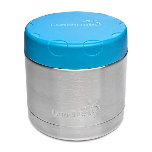 LunchBots Große Thermal 470 ml Edelstahl Schüssel - Isolierter Nahrungsmittelbehälter hält 6 Stunden lang heiß oder 12 Stunden lang kalt - Auslaufsicherer Suppenbehälter - Aqua (Planetbox-lunch-box)