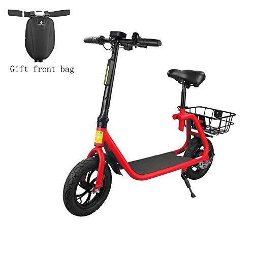 youchamp Elektrischer Roller Erwachsener mit Seat Scooter Bicycle-Red