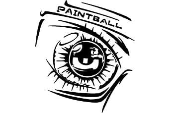 Paintball , sports autocollant - 50cm Hauteur - 50cm Largeur - noir vinyle
