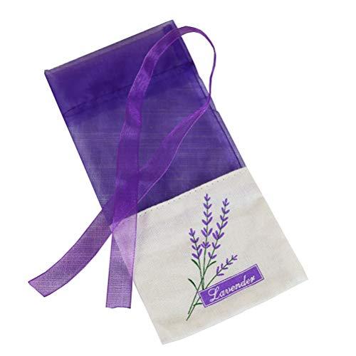 VOSAREA Lavendel Beutel Leere Duft Lavendelsäckchen Kordelzugbeutel Sack Duftsäckchen 30 Stück (Dunkel Lila)