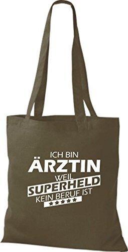 Tote Bag Shirtstown Sono Un Medico Perché Il Supereroe Non È Una Professione Doliva
