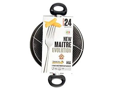 HOME Fryer antiadhésive 2 poignées maitre pierre Pots CM24 cuisine