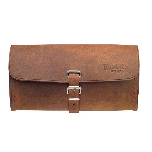 Brooks Challenge Satteltasche, Vintage-Design, echtes Leder, Größe L - Tan Satteltasche