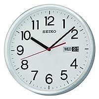Seiko Black Wall Clock With Calendar - Qxf104sls