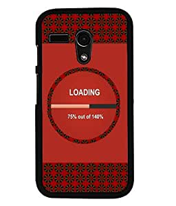 PrintVisa Metal Printed Quotes Designer Back Case Cover for Motorola Moto G (1st Gen)-D4967