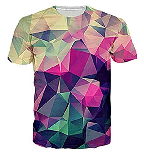 Junioren Tee (Funnycokid Junioren Tees Lustig 3D Druck Überall Muster Geometrie Lässig Farbe Männeraller T-Shirts)