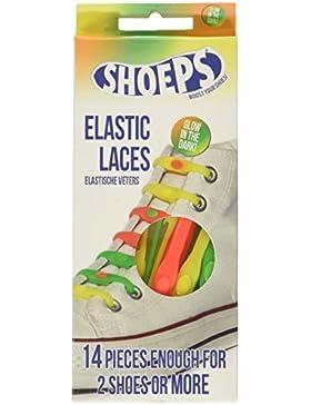 Shoeps cordones elásticos Glow in the Dark bolsas anuncio