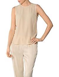 24c2b9b7d299 Joop! Damen Bluse Seide Blusenshirt Unifarben, Größe  38, Farbe  Beige
