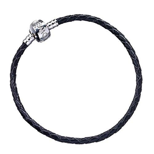 Offizielle Harry Potter Schwarzes Leder Slider Charme Armband - X Small (Schwarz-leder-armband-charme)