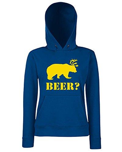 T-Shirtshock - Sweats a capuche Femme FUN0745 Beer Bleu Navy