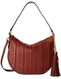 MICHAEL Michael Kors Womens Brooklyn Leather Convertible Hobo Handbag Red  Large a1bc063bf3abd