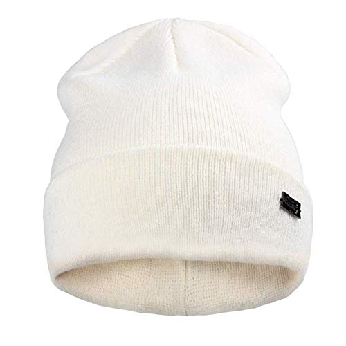 Hut Winter Hüte für Frauen Männer gestrickte Mütze Hut Cap für Mädchen hat Weibliche und männliche Skullies Paare Strumpf Hüte - Milch_White