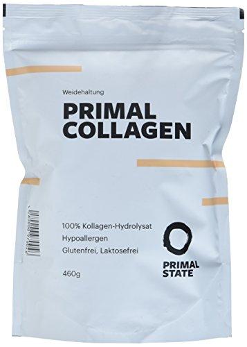 PRIMAL COLLAGEN Protein | Kollagen Hydrolysat Peptide | Pulver aus Weidehaltung | Typ I und Typ II | Lift Drink | Laborgeprüft | Geschmacksneutral - 460g (Beef Protein)
