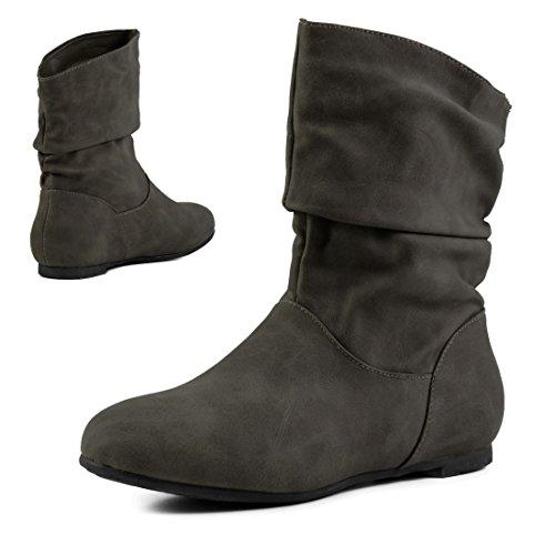 De Couro Óptica Botas Dos Deslizar Ankle Básicos Verde Trabalhadores Alta Botas Couro De Curtas Eixo Óptica Em Suave Boots Qualidade qO5I6w5x7