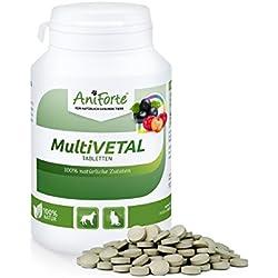 AniForte MultiVETAL Tabletten 250 Stück für Hunde und Katzen, Natürliches Multi-Vitamin mit Bierhefe, Gerstengras, Acerola und Acai