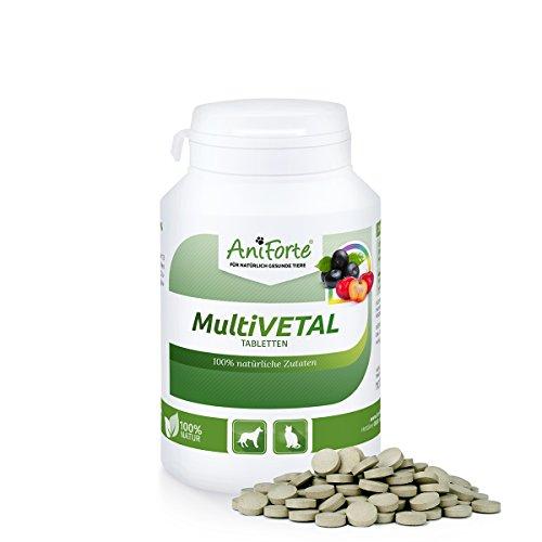 AniForte® MultiVETAL Tabletten 250 Stück – Natürliches Multi Vitamin mit Acerola & Acai - Naturprodukt für Hunde & Katzen