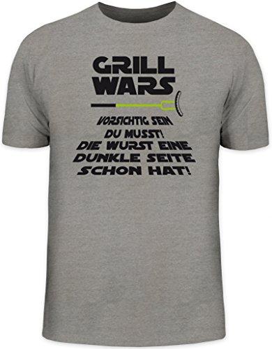 Grillen BBQ Herren T-Shirt von Shirtstreet24 mit Dunkle Seite Grill Wars Aufdruck, - Grill Wars Tshirt