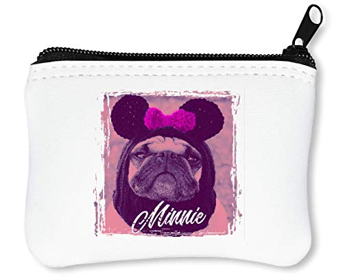 Good Girl | Minnie Pug | Animal Collection | Cool T Shirt | Nice to | Super | Osom | Popular Mouse | Yolo Swag Reißverschluss-Geldbörse Brieftasche ()