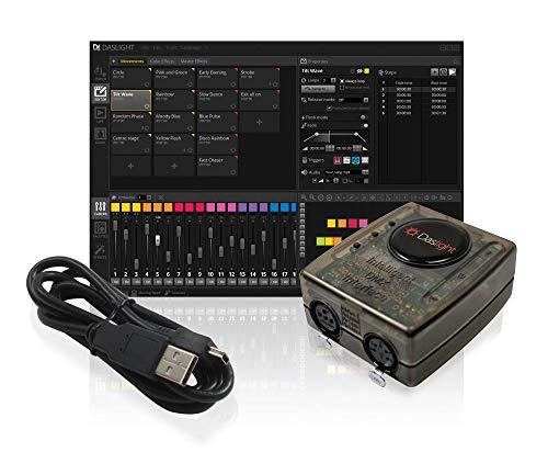 Daslight DVC4 GOLD ZM 3072 DMX-Kanäle inkl. Software - Controller Steuerung DJ