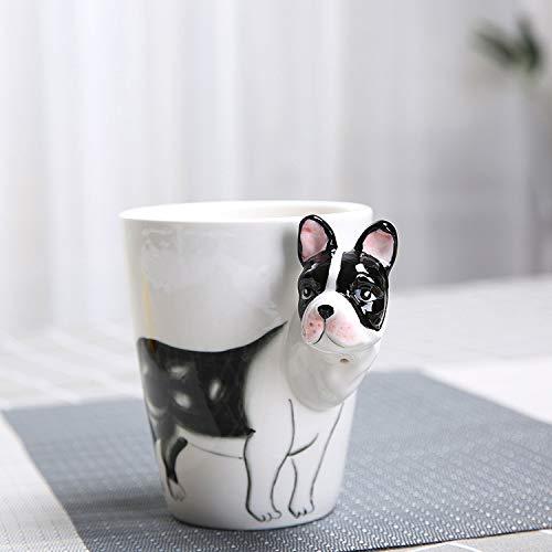 3D Stereo Tier Becher Gemalt Tier Keramik Milchbecher Hohe Temperaturbeständigkeit 10.8 cm * 8.8 cm Stierkampf