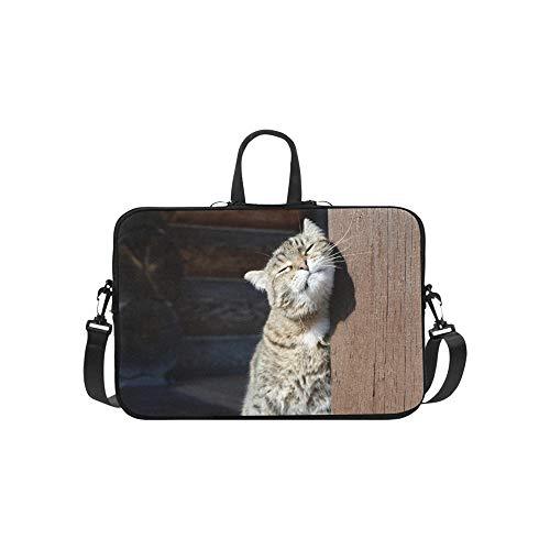 Sonnenbrille Katze Blick auf die Sonne Muster Aktentasche Laptoptasche Messenger Schultertasche Crossbody Handtasche für Geschäftsreisen