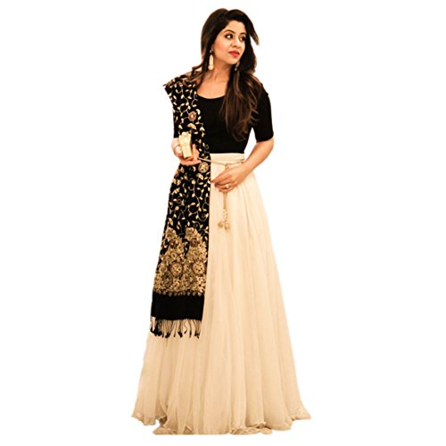 New Year Special White And Black Colour Lehnga Choli for Womens (Christmas...