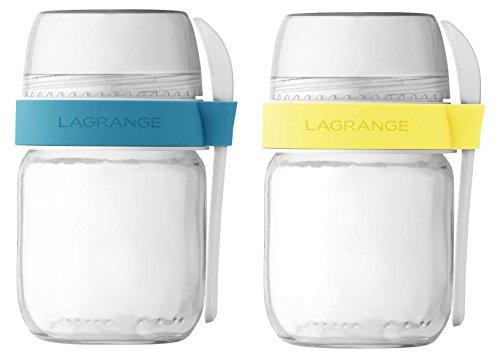LAGRANGE 4404012POTS voneinander - Joghurt-gläser Glas