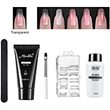 Polygel Kit, Polygel para Uñas Kit Incluyendo Tips de Uñas de Acrílico Polygel, Pincel