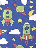 Aminata Kids - Kinder-Bettwäsche 100-x-135 cm Baby-Bettwäsche Weltraum-Motiv Weltall Astronaut Universum Planet-en 100-% Baumwolle Renforce blau grün Test