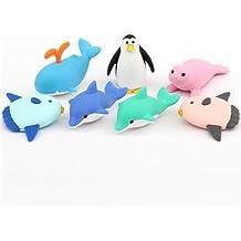 IWAKO Radierer Puzzleradierer Meerestiere Wal Robbe Delfin Pinguin Fisch