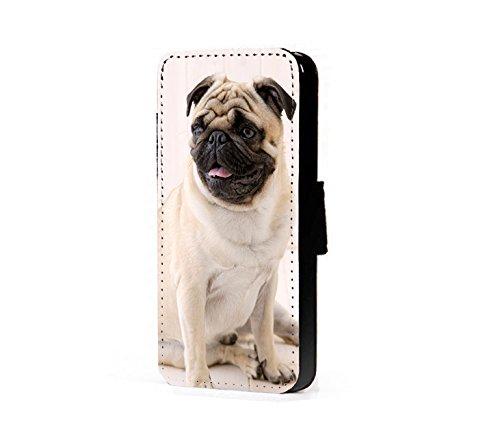MOPS-Schutzhülle HUNDE-Design Kunstleder-Handy-Schutzhülle für iPhone 6 Plus und 6s Plus (Nur R 6 Iphone Fall)