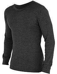 FLOSO - Camiseta interior térmica de manga larga para hombre (Gama Estandar)