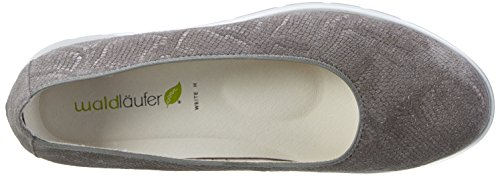Waldläufer Damen Hoppy Slipper Grau (Pietra)