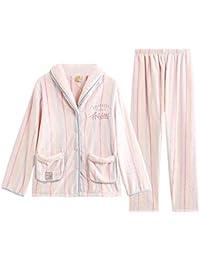 LIUYL Conjunto De Pijama De Franela De Lujo para Mujer, Suave, Cálido, Polar