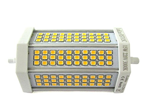 Lampada Led R7S RX7S Lineare Dimmerabile 118mm 15W=150W Bianco Neutro 220V Triac Dimmer 77 Smd 2835