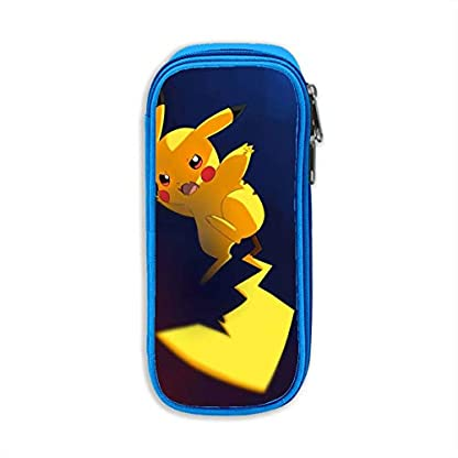 «Pokemon lindo – Estuche para lápices de Pikachu, Bolso de lona,   Bolso portátil para estudiantes de oficina con cremalleras para niños, niñas y adultos»