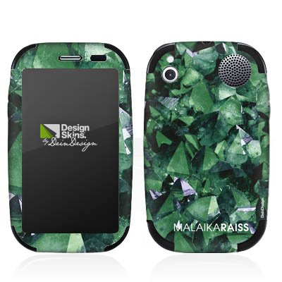 DeinDesign HP Palm Pre Plus Case Skin Sticker aus Vinyl-Folie Aufkleber Kristall Muster Grün Palm Pre Crystal Case