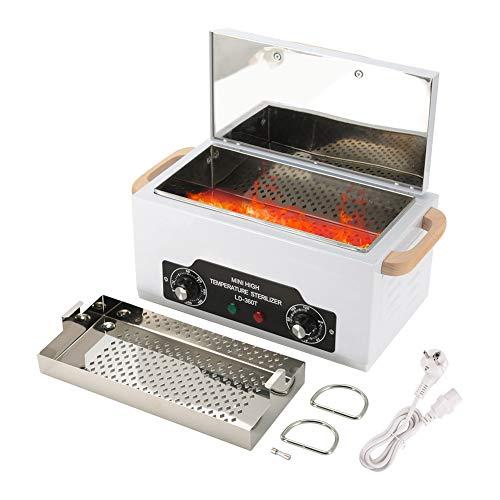 Sterilisationsbox, Hochtemperatur-Sterilisator, abnehmbarer Edelstahl für Nagel und Dentalwerkzeuge(weiß) -