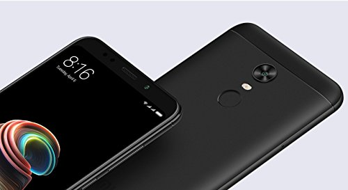 Redmi Note 5 (64GB) (4GB RAM) With (Noosy 4 in 1 Adaptor & Soft Back Cover & Finger Ring Stand & Earphone) (Black)