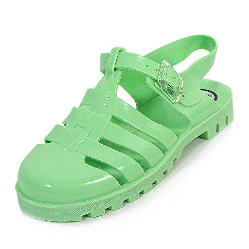 JuJu, Sandali donna Multi Glitter, verde (Green), 38 EU